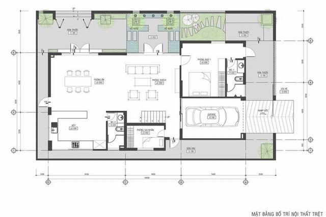 Bản vẽ biệt thự phố 3 tầng 12x21m