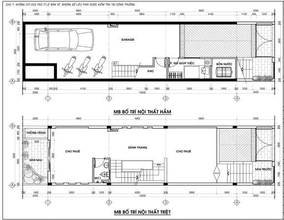 Thiết kế nhà 5x16 4 tầng