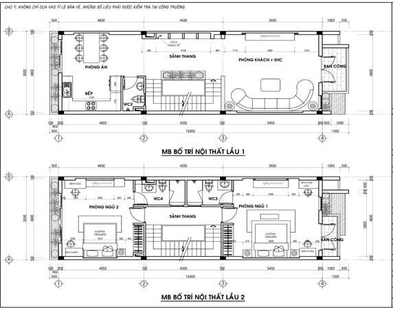 Thiết kế nhà phố 4.5 tầng mặt tiền 5m