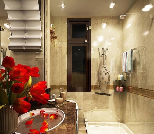 Phòng tắm cho biệt thự tân cổ điển
