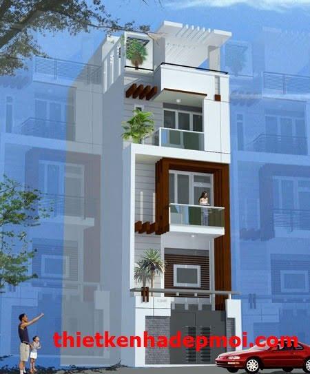 Nhà 4 tầng đẹp tại Sài Gòn