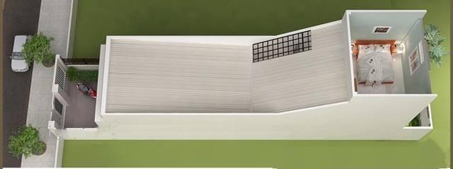 Bản vẽ nhà cấp 4 có gác lửng 4x20