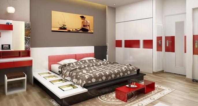 Trang trí phòng ngủ đẹp cho nhà rộng 5m