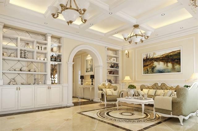 Phòng khách cổ điển đẹp 2020