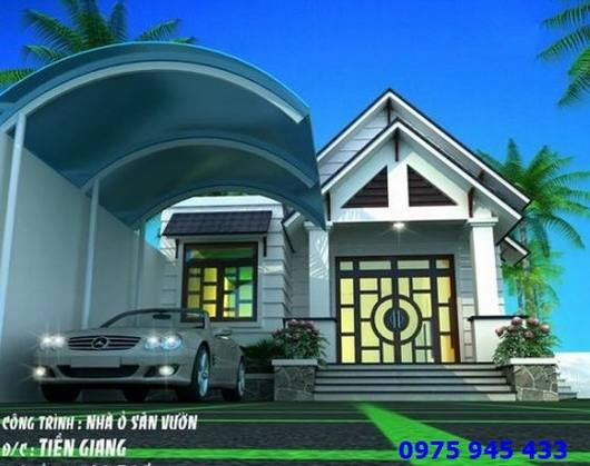 Bản vẽ nhà xe mái vòm