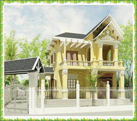 biet thu 2 tang kieu phap dep 0384