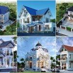 Các mẫu nhà 2 tầng ở nông thôn mái thái 2021