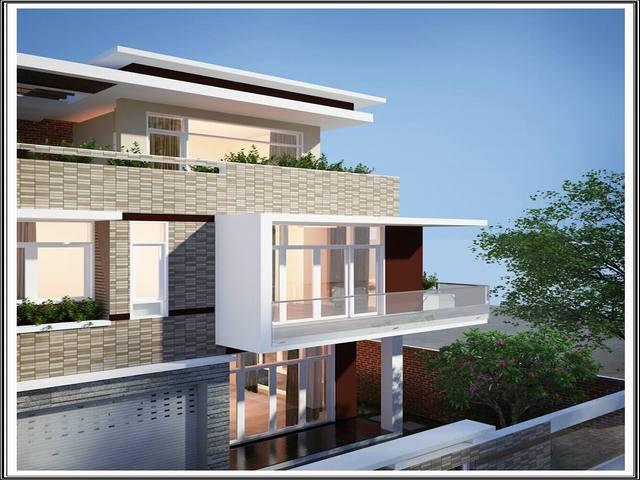 Biệt thự nhà vườn 3 tầng mặt phố ở Hà Đông