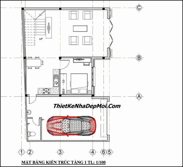Bản vẽ thiết kế nhà diện tích 12x15m