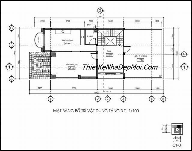 Tư vấn xây nhà phố 3 tầng 7m