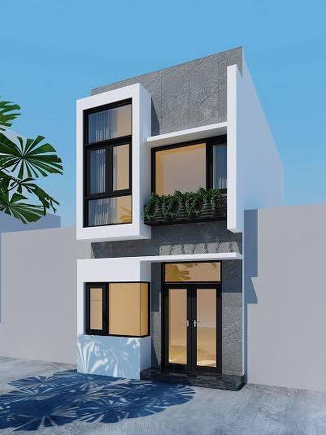 Thiết kế nhà phố 2 tầng 4x16m