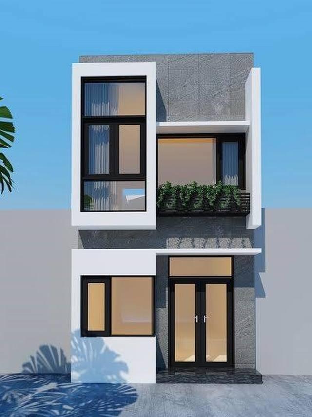 Mẫu nhà phố 2 tầng 4x16m
