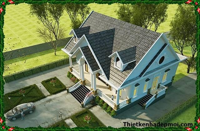 Thiết kế biệt thự mini nhà vườn kiểu Pháp anh Thuận