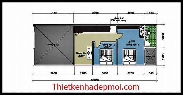 Nhà ống cấp 4 3 phòng ngủ 5x20