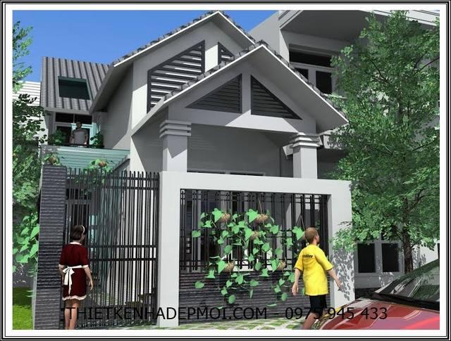 mẫu nhà đẹp 7x15m, Mẫu nhà đẹp 7x15m thiết kế có gác lửng thoáng mái ngói anh Sinh Vũng Tàu, Công ty thiết kế xây dựng Nhà Đẹp Mới, Công ty thiết kế xây dựng Nhà Đẹp Mới