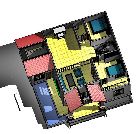 Bản vẽ biệt thự mini mái thái 11x12m kiểu Pháp