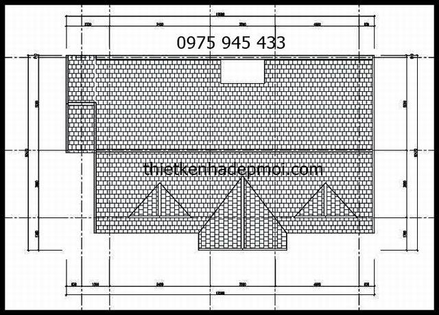 Bản vẽ thiết kế nhà cấp 4 hiện đại 3 phòng ngủ