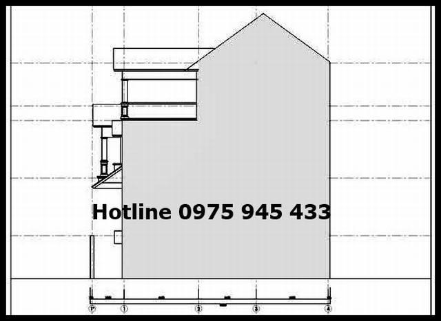File cad nhà phố 4 tầng ngang 6m x 15m