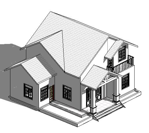 biệt thự mini 2 tầng đẹp đơn giản kích thước 130m2