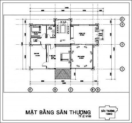 mat bang san thuong biet thu co dien chau au 3 tang
