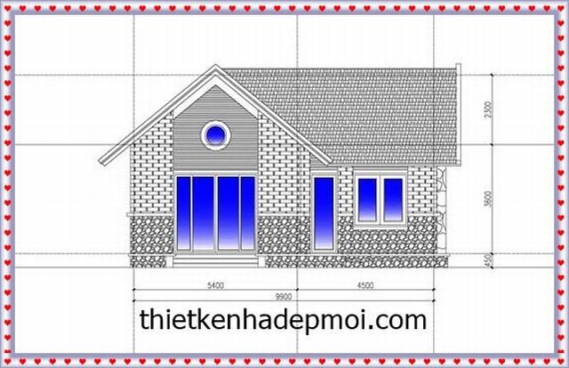 nhà cấp 4 mái thái 130m2 đẹp, Đắm say mẫu nhà cấp 4 mái thái đẹp 130m2 chữ L khác biệt, Công ty thiết kế xây dựng Nhà Đẹp Mới, Công ty thiết kế xây dựng Nhà Đẹp Mới