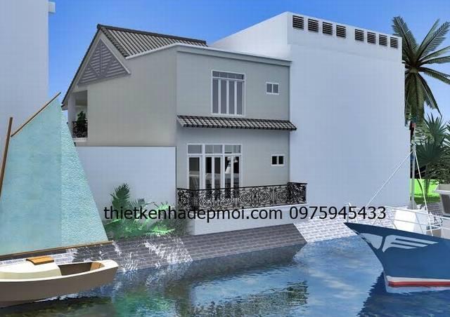 Thiết kế nhà ngang 6m dài 20m mái thái