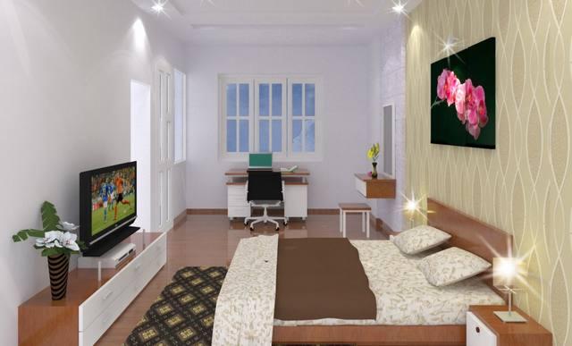 Nội thất nhà đẹp 100m2 2 tầng 4 phòng ngủ