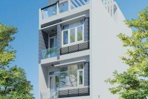 Thiết kế nhà đẹp diện tích nhỏ 4x10