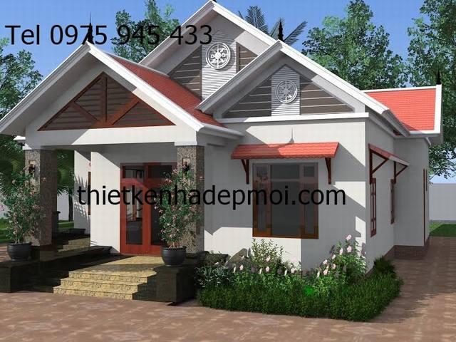 Thiết kế nhà mái tôn đẹp ở Đắc nông