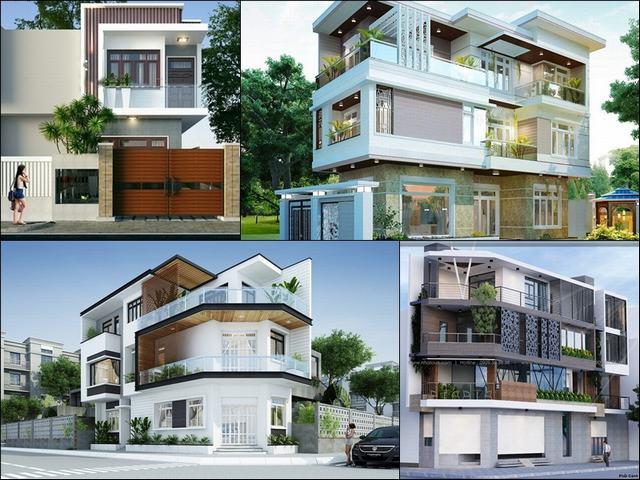 Kiến trúc nhà đẹp 2 tầng 2 mặt tiền