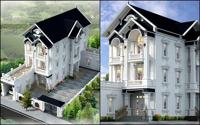 Mẫu thiết kế nhà 3 tầng mặt tiền 8m mái thái