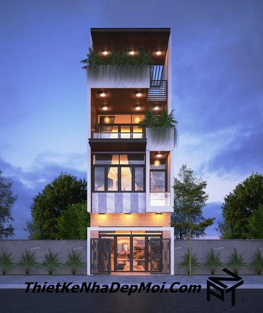 Thiết kế nhà 5x12m 3.5 tầng