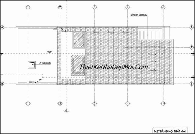 Bản vẽ mái nhà 7x20m