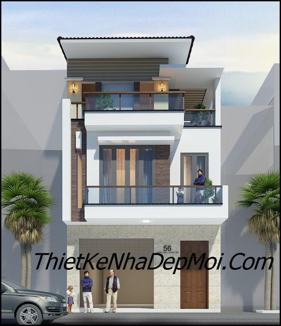 Mẫu nhà 2 tầng mặt tiền kinh doanh