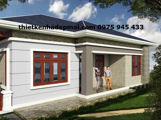 bản vẽ nhà cấp 4 8x17 mái ngói 3 phòng ngủ