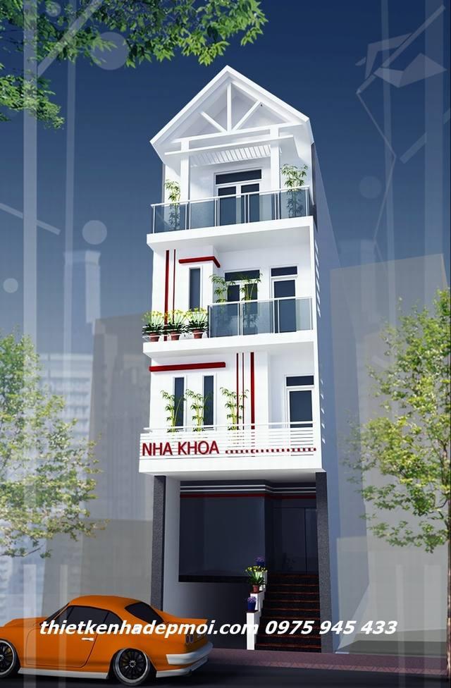 Cải tạo nâng tầng nhà phố 4 tầng 5.5m
