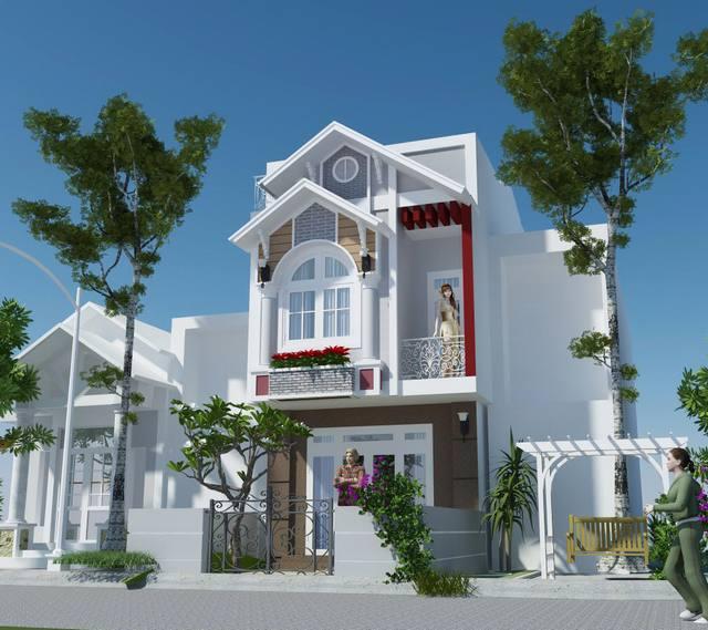 Thiết kế nhà 2 tầng 4x16