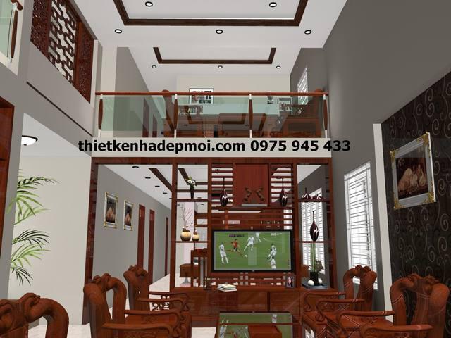 mat+tien+nha+8m Mặt tiền nhà 2 tầng đẹp ngang 8m mái thái