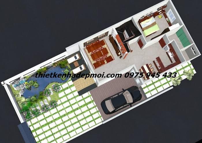 Thiết kế nhà diện tích 80m2 2 tầng
