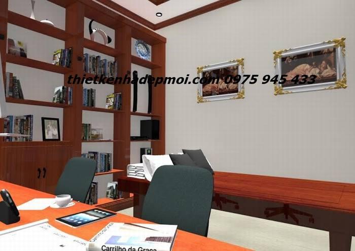 Không gian nội thất biệt thự mini trệt mái thái