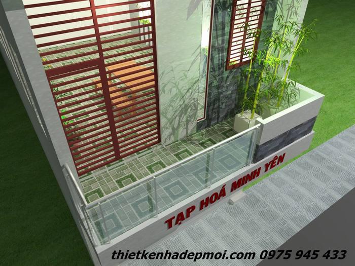 ban cong tang 2 nha 3 tang dep mat tien 4m nam 2016