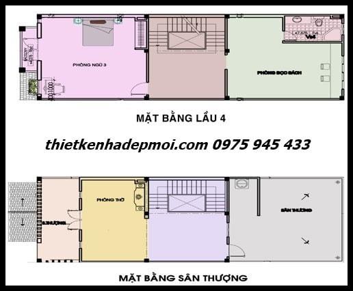 mat bang nha pho 6m 3 tang san thuong