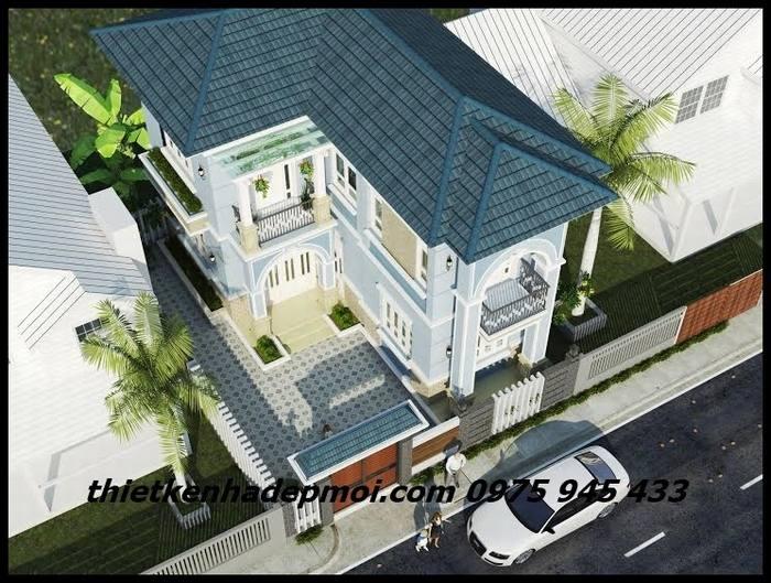 Biệt thự phố chữ L 90m2 2 tầng