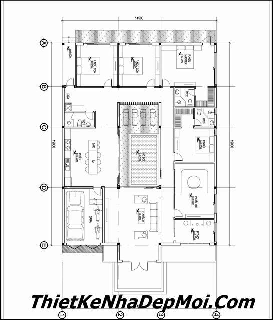 Thiết kế nhà có bể bơi trong nhà
