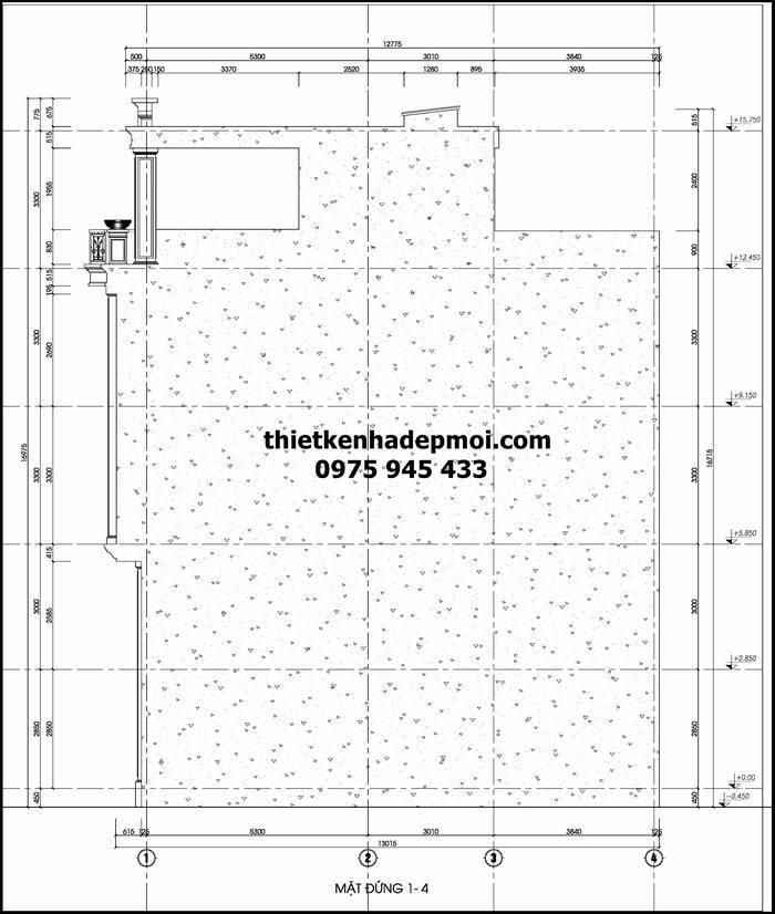 tư vấn xây nhà ống rộng 3.5m 5 tầng