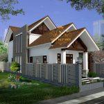 Nhà đẹp 1 trệt 1 lửng mái thái