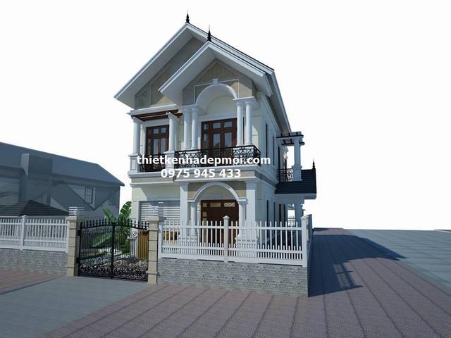 Thiết kế nhà 2 tầng 7x12m
