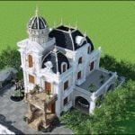 Mẫu biệt thự 3 tầng cổ điển châu âu
