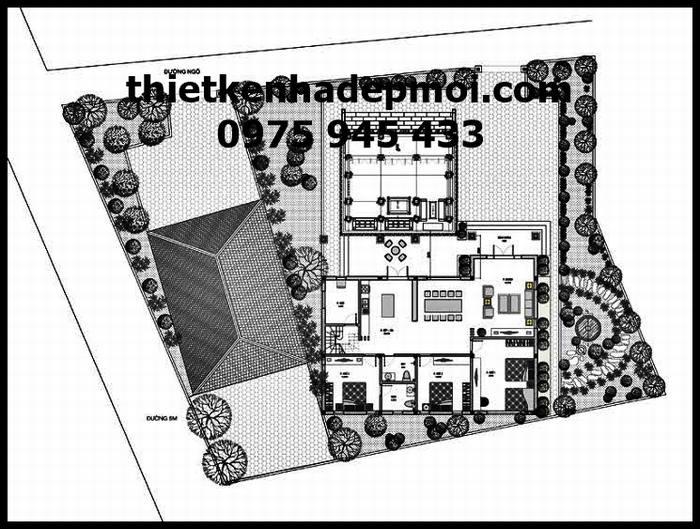 Bản vẽ thiết kế nhà từ đường 2021