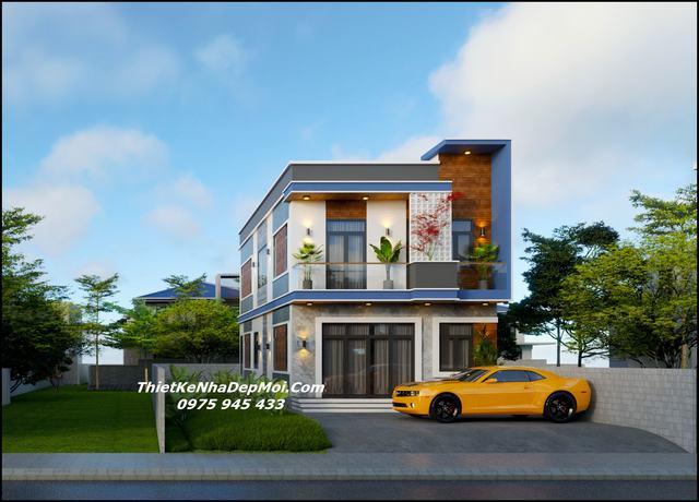 nhà hai tầng 7m đơn giản